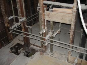 All the old plumbing soon to be ripped out
