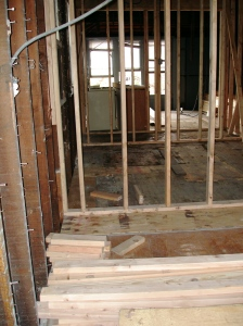 Second floor with new framing